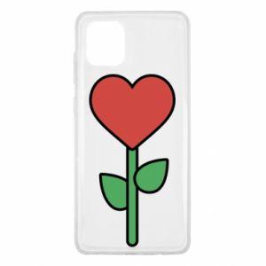 Etui na Samsung Note 10 Lite Kwiat - serca