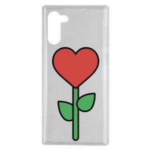 Etui na Samsung Note 10 Kwiat - serca