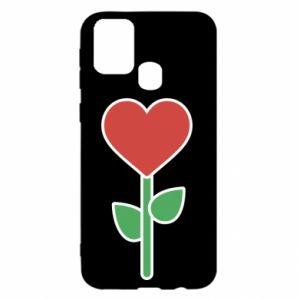 Etui na Samsung M31 Kwiat - serca
