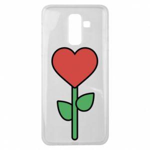 Etui na Samsung J8 2018 Kwiat - serca