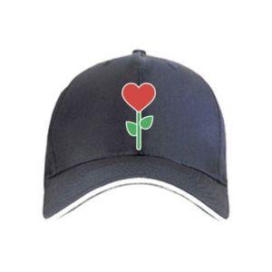 Czapka Kwiat - serca