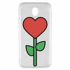 Etui na Samsung J7 2017 Kwiat - serca