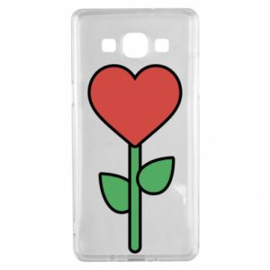 Etui na Samsung A5 2015 Kwiat - serca