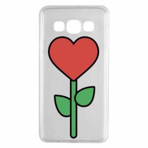 Etui na Samsung A3 2015 Kwiat - serca