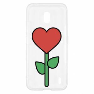 Etui na Nokia 2.2 Kwiat - serca