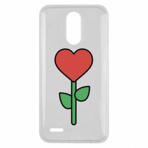 Etui na Lg K10 2017 Kwiat - serca