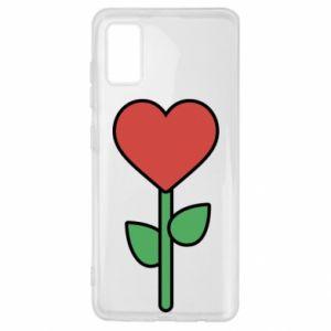 Etui na Samsung A41 Kwiat - serca