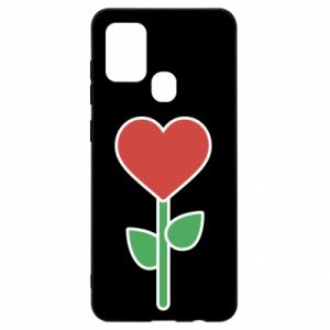 Etui na Samsung A21s Kwiat - serca
