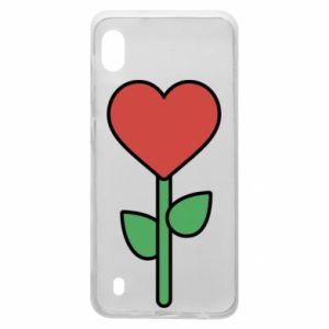Etui na Samsung A10 Kwiat - serca