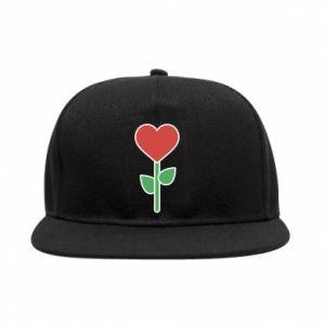 Snapback Kwiat - serca