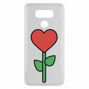 Etui na LG G6 Kwiat - serca