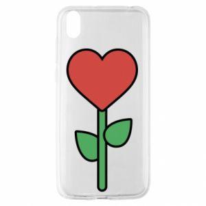 Etui na Huawei Y5 2019 Kwiat - serca