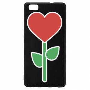 Etui na Huawei P 8 Lite Kwiat - serca