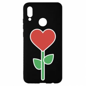 Etui na Huawei P Smart 2019 Kwiat - serca