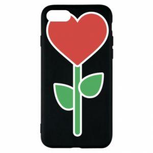 Etui na iPhone SE 2020 Kwiat - serca