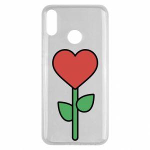 Etui na Huawei Y9 2019 Kwiat - serca
