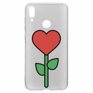 Etui na Huawei Y7 2019 Kwiat - serca