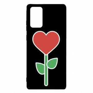 Etui na Samsung Note 20 Kwiat - serca