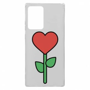Etui na Samsung Note 20 Ultra Kwiat - serca