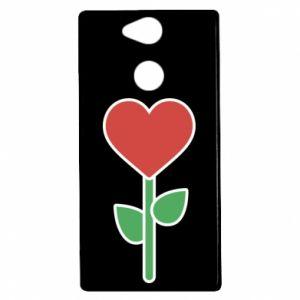 Etui na Sony Xperia XA2 Kwiat - serca