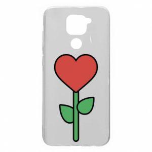 Etui na Xiaomi Redmi Note 9/Redmi 10X Kwiat - serca