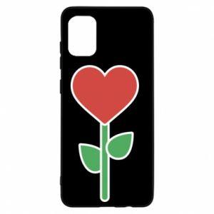 Etui na Samsung A31 Kwiat - serca