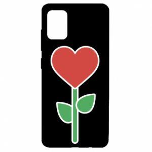 Etui na Samsung A51 Kwiat - serca
