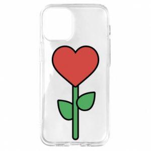 Etui na iPhone 12 Mini Kwiat - serca