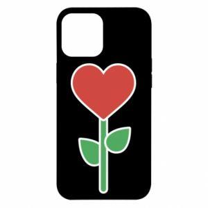 Etui na iPhone 12 Pro Max Kwiat - serca