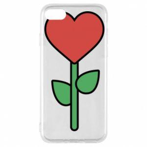 Etui na iPhone 7 Kwiat - serca