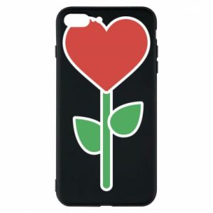 Phone case for iPhone 8 Plus Flower - heart