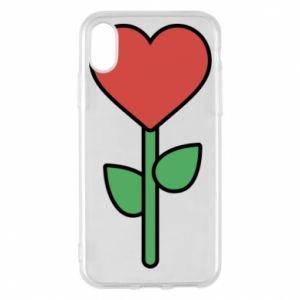 Etui na iPhone X/Xs Kwiat - serca