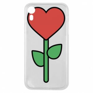 Phone case for iPhone XR Flower - heart