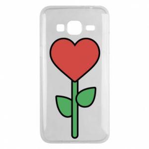 Etui na Samsung J3 2016 Kwiat - serca