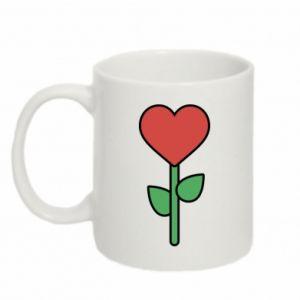 Kubek 330ml Kwiat - serca