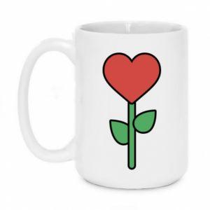 Kubek 450ml Kwiat - serca