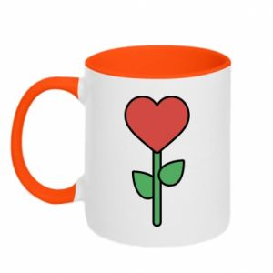 Kubek dwukolorowy Kwiat - serca