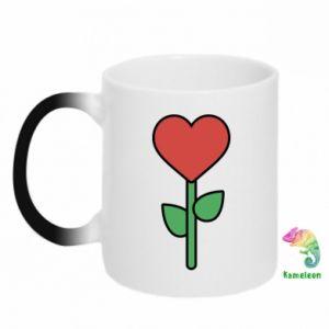 Kubek-kameleon Kwiat - serca