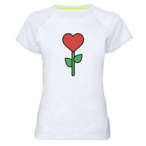 Damska koszulka sportowa Kwiat - serca
