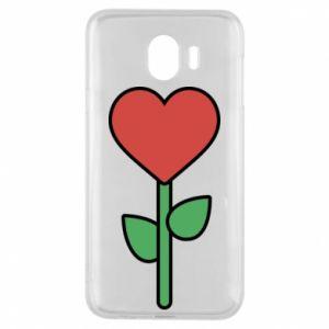 Etui na Samsung J4 Kwiat - serca