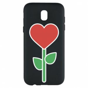 Etui na Samsung J5 2017 Kwiat - serca