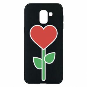 Etui na Samsung J6 Kwiat - serca