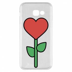 Etui na Samsung A5 2017 Kwiat - serca