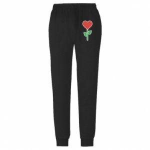 Męskie spodnie lekkie Kwiat - serca