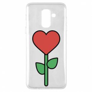 Etui na Samsung A6+ 2018 Kwiat - serca