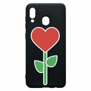 Phone case for Samsung A20 Flower - heart