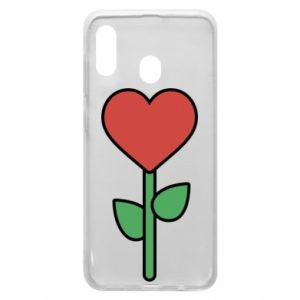 Phone case for Samsung A30 Flower - heart