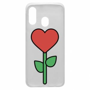 Phone case for Samsung A40 Flower - heart