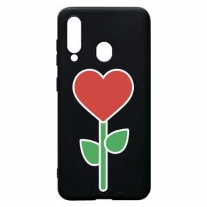 Etui na Samsung A60 Kwiat - serca