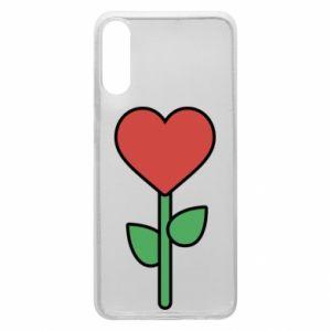 Etui na Samsung A70 Kwiat - serca